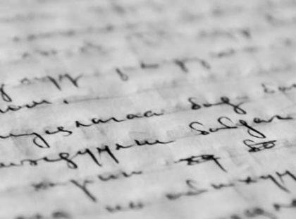written words on paper